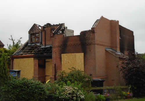 fire damage to house structural survey